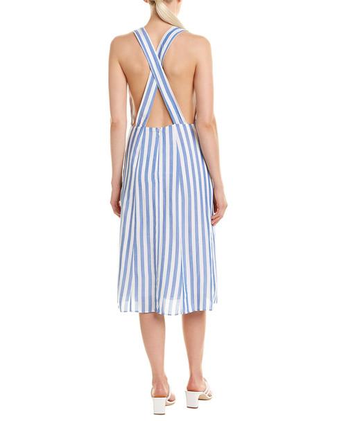 LUMIERE Striped Midi Dress~1411203959