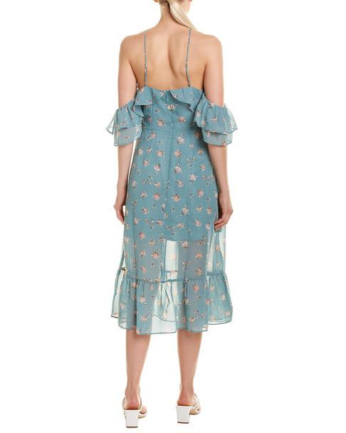 LUMIERE Cold-Shoulder Midi Dress~1411203961