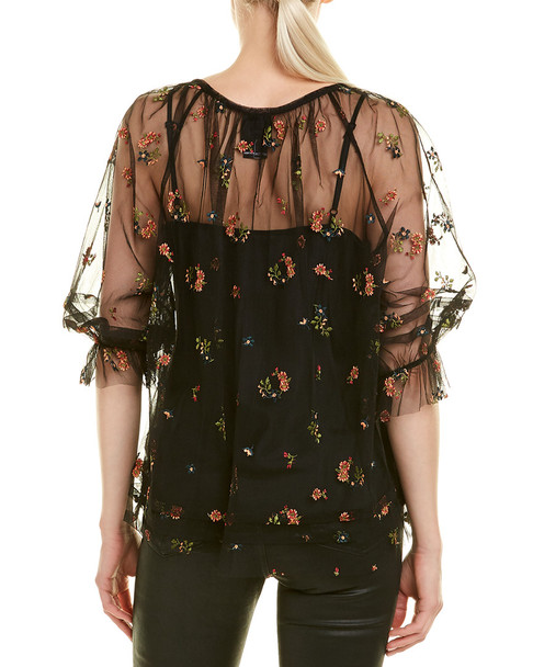 Anna Sui Embroidered Top~1411387361