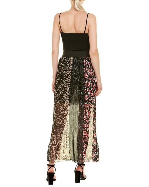 Anna Sui Artisan Soiree Silk Maxi Skirt~1411647981