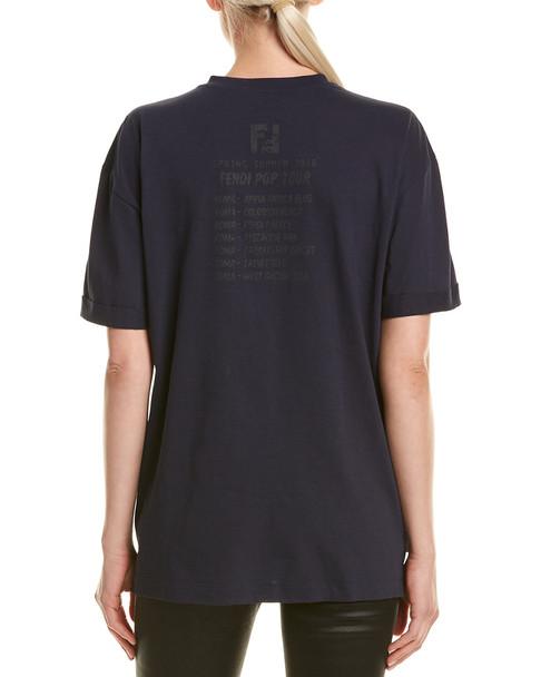 FENDI Embroidered T-Shirt~1411688101