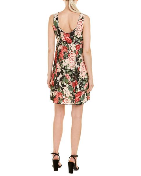Anna Sui Rose Garland Shift Dress~1411707394