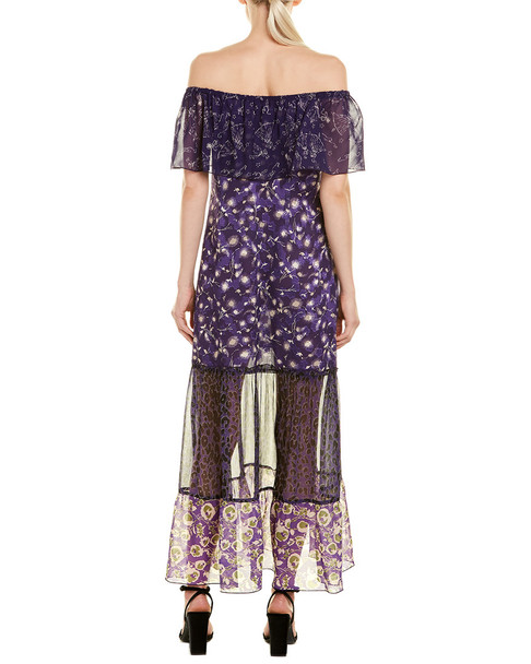 Anna Sui Artisan Soiree Silk Maxi Dress~1411921669