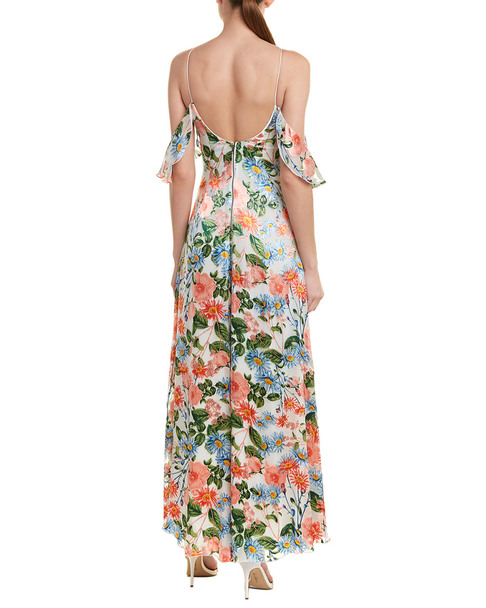 alice + olivia Alves Silk-Blend Maxi Dress~1411945313