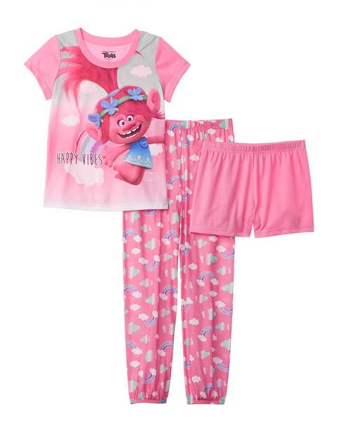Character Sleepwear Trolls 3pc Pajama Set~1511134890