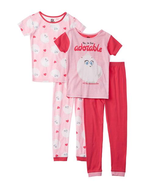 Character Sleepwear The Secret Life Of Pets 4pc Pajama Set~1511134906