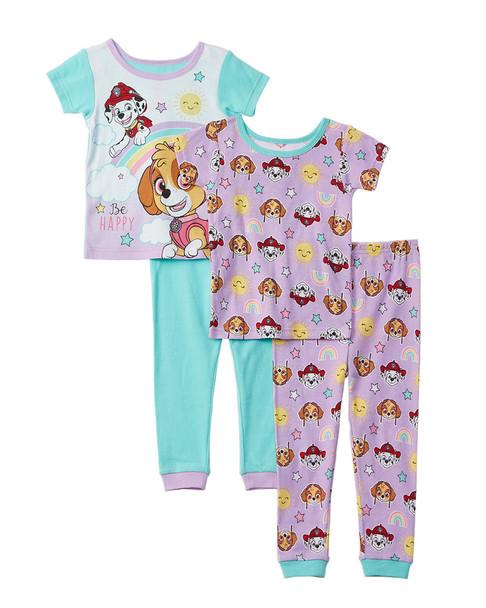 Character Sleepwear Paw Patrol 4pc Pajama Set~1511134961