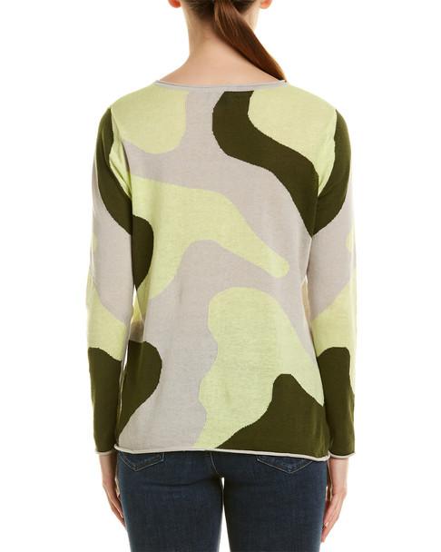 Unwine Camo Linen-Blend Sweater~1411087848