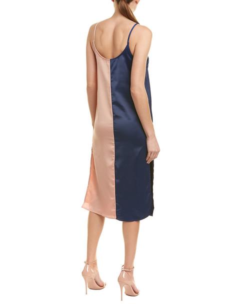 City Sleek Color Block Midi Dress~1411157909