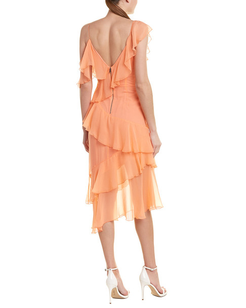 alice + olivia Olympia Silk Midi Dress~1411945312
