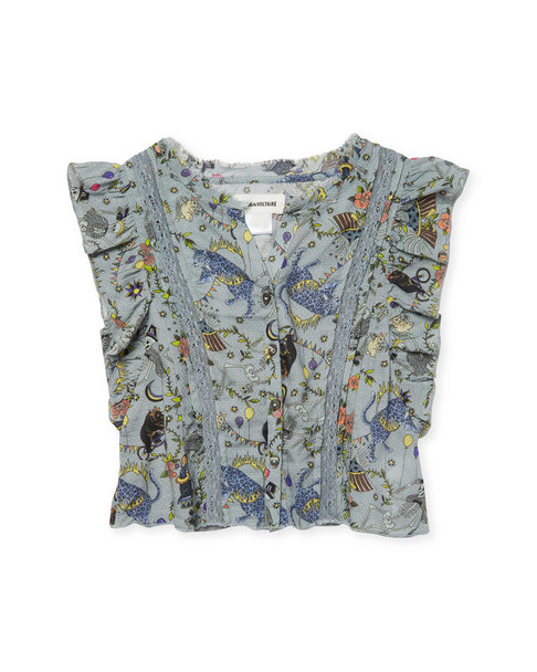 ZADIG & VOLTAIRE Sahara Printed Blouse~1511803579