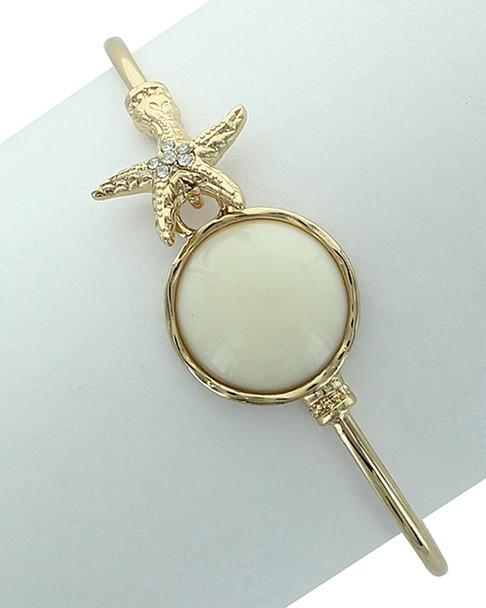 Sparkling Sage Plated Resin Bracelet~60306850270000