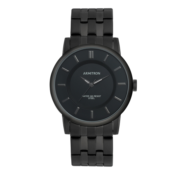 Armitron Men's Black IP Bracelet Watch
