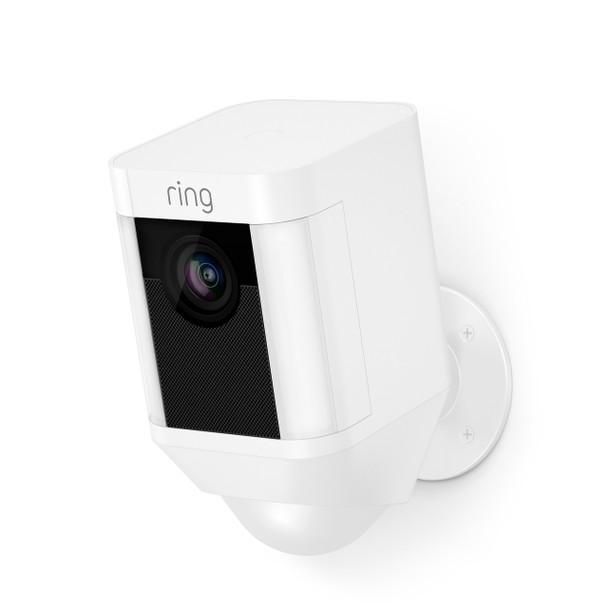 Spotlight 1080p Battery-Powered Security Camera - White~RIN-8SB1S7WENO