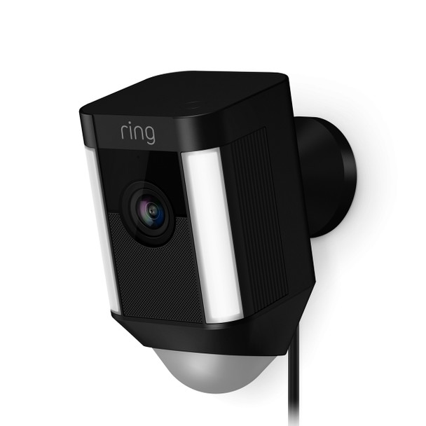 Spotlight 1080p Wired Security Camera - Black~RIN-8SH1P7BENO