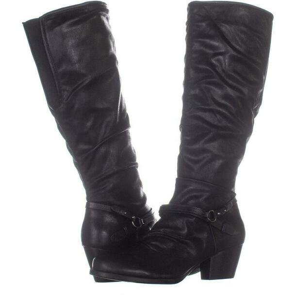 Bare Traps Womens Roz Fabric Almond Toe Knee High Fashion Boots~pp-0d09dffb