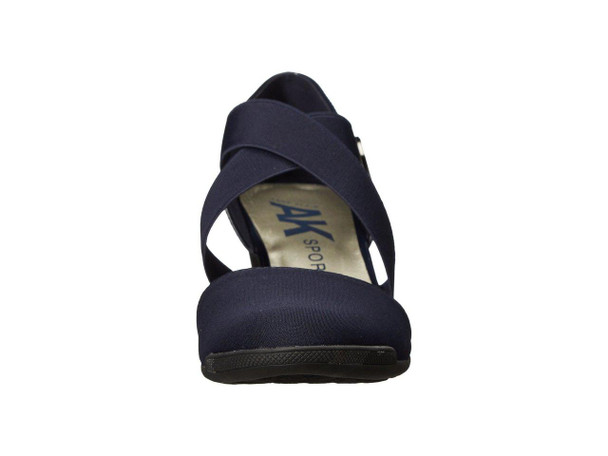 Anne Klein Womens Teaberry Fabric Closed Toe Casual Platform Sandals~pp-1725626a