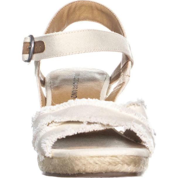 Lucky Brand Womens Maraline Fabric Open Toe Casual Platform Sandals~pp-2885a3aa