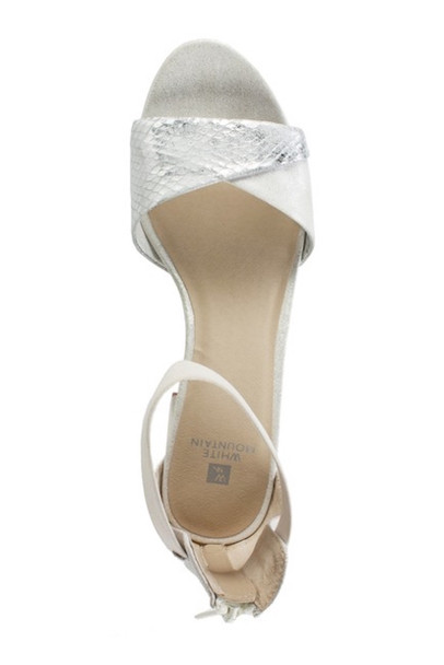 White Mountain Womens Evie Fabric Open Toe Special Occasion Ankle Strap Sandals~pp-347bf760