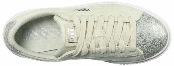 Puma Womens Basket Platform Canvas Low Top Lace Up Fashion Sneakers~pp-5429cf08