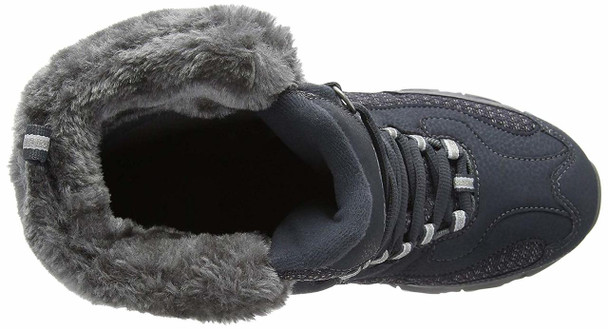Skechers Women's D'Lites-Bomb Cyclone. Short Lace Up Boot with Fur Collar Fas...~pp-5da6d777