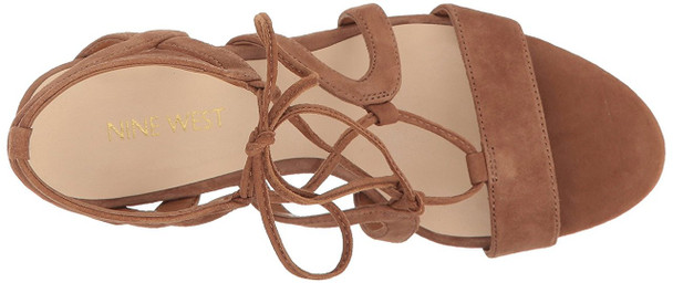Nine West Womens Bizzy Leather Open Toe Casual Strappy Sandals~pp-86b82358
