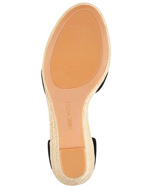 Nine West Womens Jeranna Leather Open Toe Casual Platform Sandals~pp-87d6f83a