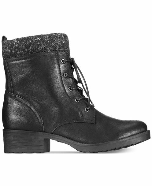 BareTraps Womens Onnabeth Faux Leather Marled Combat Boots~pp-95e02da3
