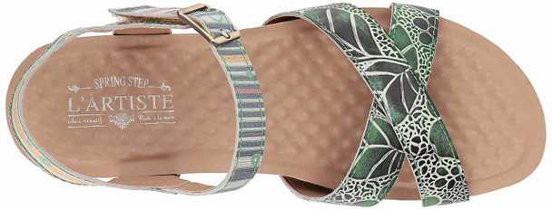 L'Artiste by Spring Step Womens Vella Leather Open Toe Casual Strappy Sandals~pp-a4013f61