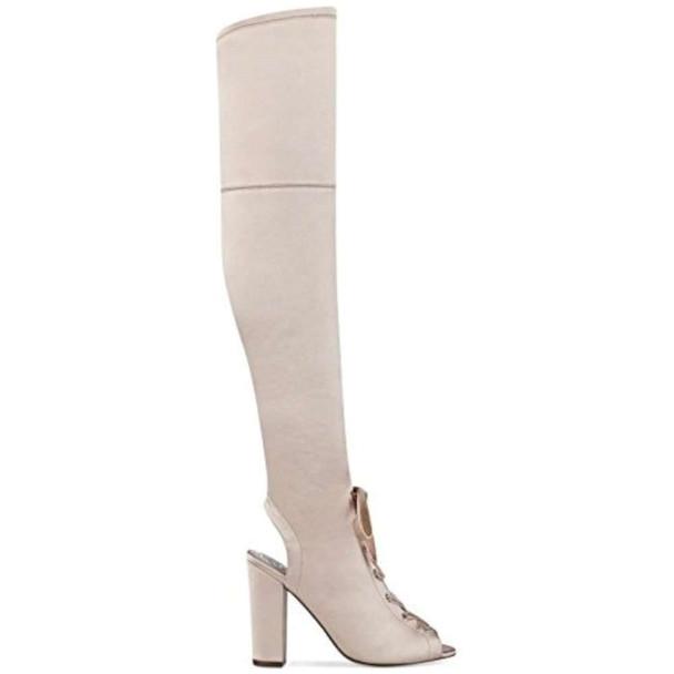 Guess Womens Calene Satin Peep Toe Over Knee Fashion Boots~pp-b4197754