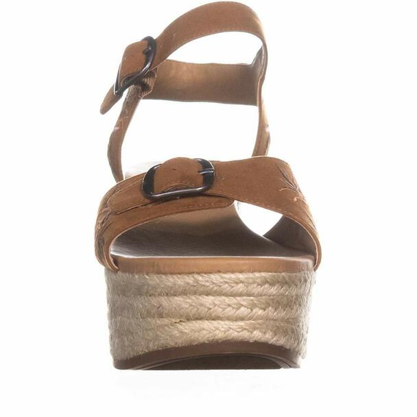 Lucky Brand Womens Naveah2 Fabric Open Toe Casual Platform Sandals~pp-e38ef1df