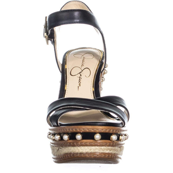 Jessica Simpson Womens Aeralin Leather Open Toe Casual Ankle Strap Sandals~pp-e9c41f20
