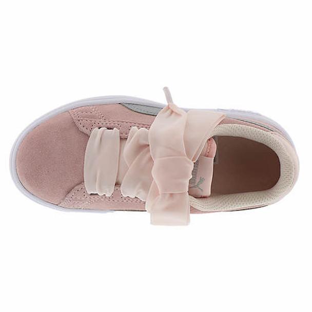 Kids Puma Girls Smash v2 Ribbon Leather Low Top Lace Up Fashion Sneaker~pp-feba64f5
