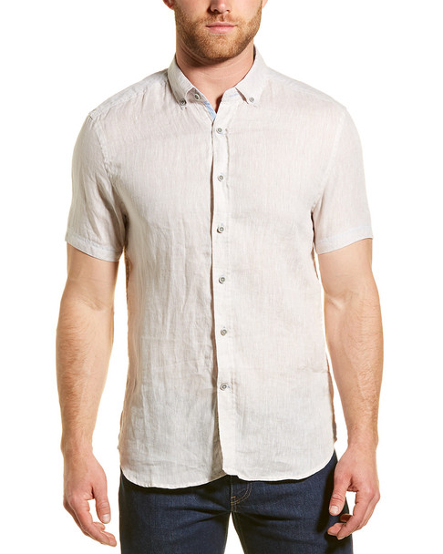 Report Collection Enzyme Wash Linen Woven Shirt~1010182932
