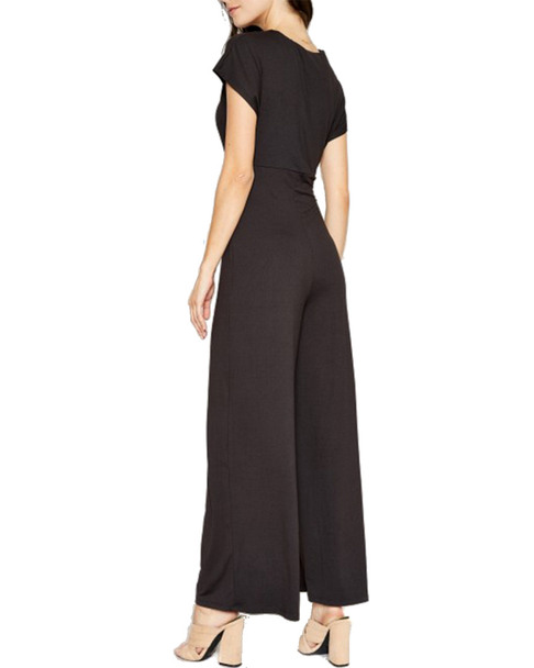Sadie & Sage Caps Sleeve Ruched Jumpsuit~1411199843
