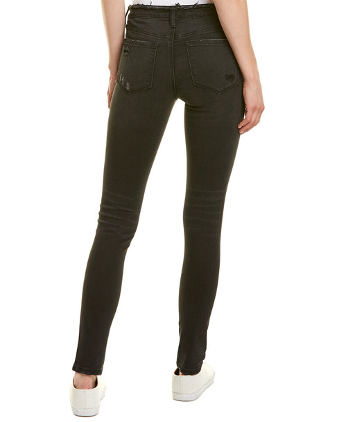 Vervet Destroyed Black Skinny Jean~1411915619