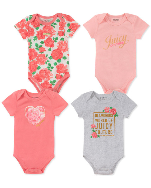Juicy Set of 4 Roses Bodysuits~1511198797