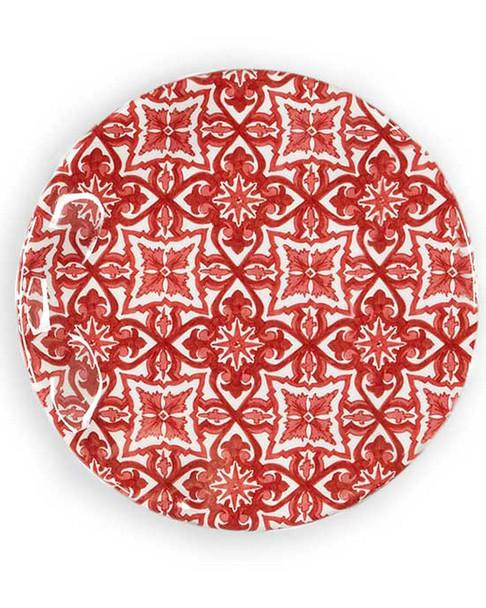Q Squared Design NYC Set of 4 Talavera in Roja 5.5in Melamine Bread & Butter Plates~30109894260000