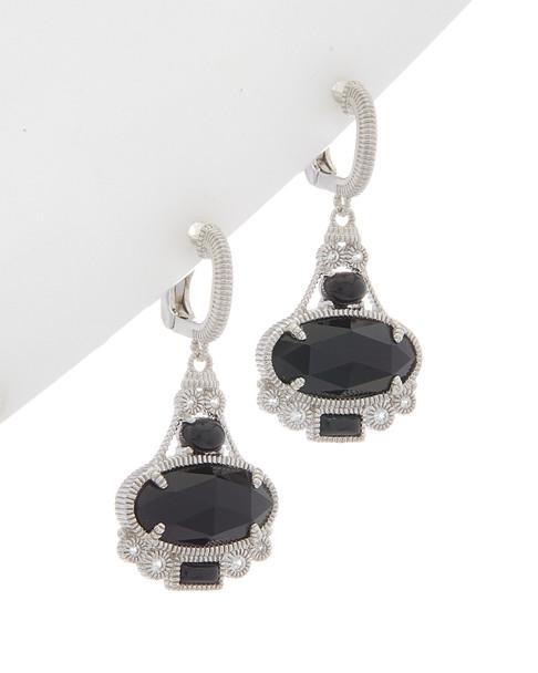 Judith Ripka Aspen Silver 8.00 ct. tw. Gemstone Earrings~60301310080000