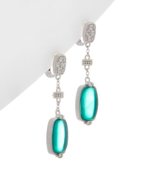 Judith Ripka Gold Coast Silver 9.37 ct. tw. Gemstone Earrings~60301310410000