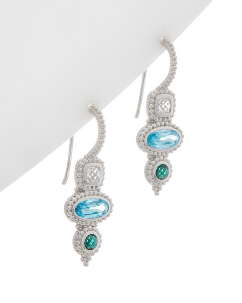 Judith Ripka Harmony Silver 2.55 ct. tw. Gemstone Earrings~60301310440000