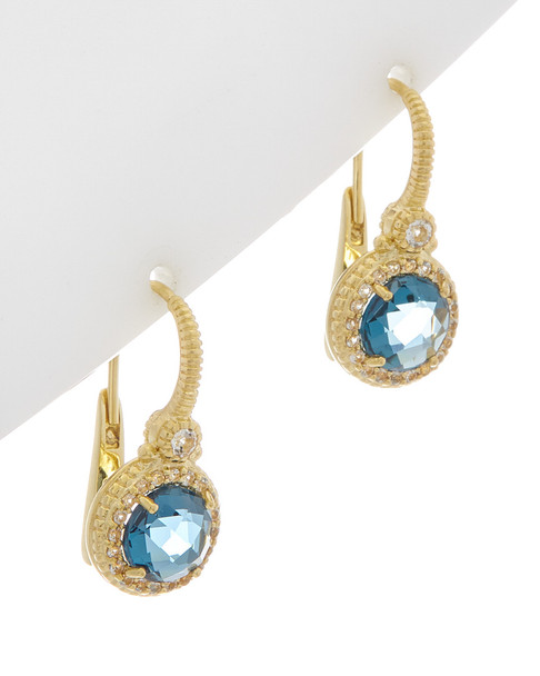 Judith Ripka La Petite 14K Over Silver 4.03 ct. tw. Gemstone Earrings~60301310480000