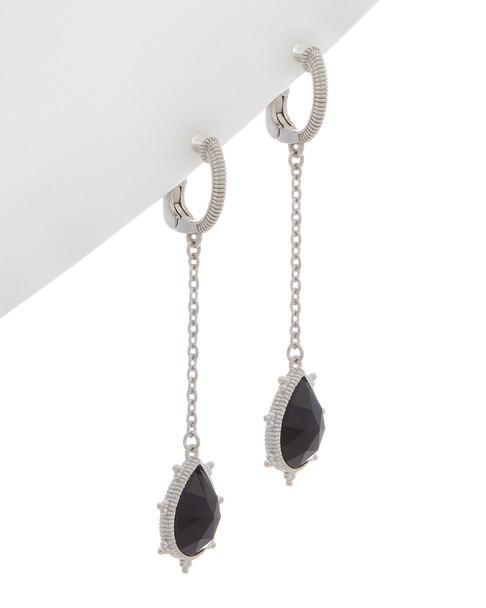 Judith Ripka La Petite Silver 3.40 ct. tw. Black Onyx Earrings~60301310490000