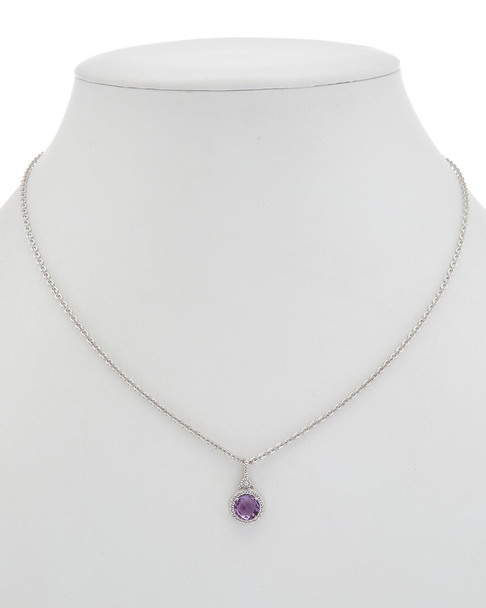 Judith Ripka La Petite Silver 1.47 ct. tw. Gemstone Necklace~60301310500000