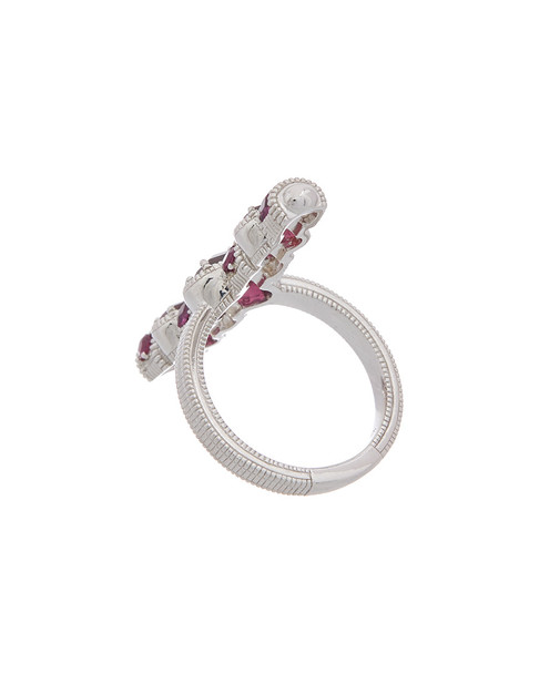 Judith Ripka Mardi Gras Silver 2.51 ct. tw. Rhodolite Ring~6030131068