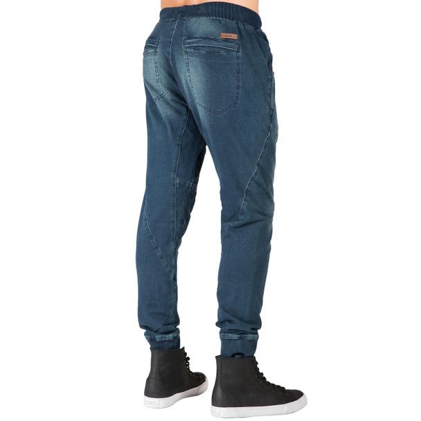 Level 7 men/'s Relaxed Straight Leg Premium denim Jeans Dark Vintage Hand Sanding