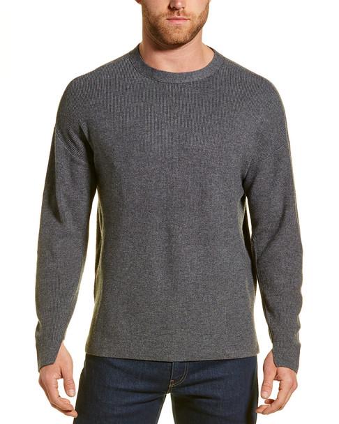 River Stone Oversized Wool-Blend Sweatshirt~1010222039