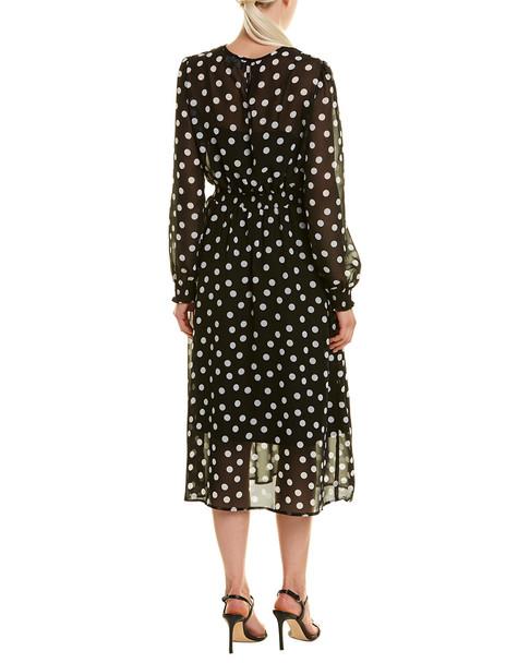 ABS COLLECTION Polka Dot Midi Dress~1050093614
