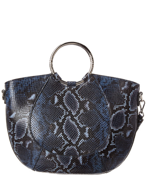 Valentino by Mario Valentino Lily Python-Embossed Leather Satchel~11600272660000