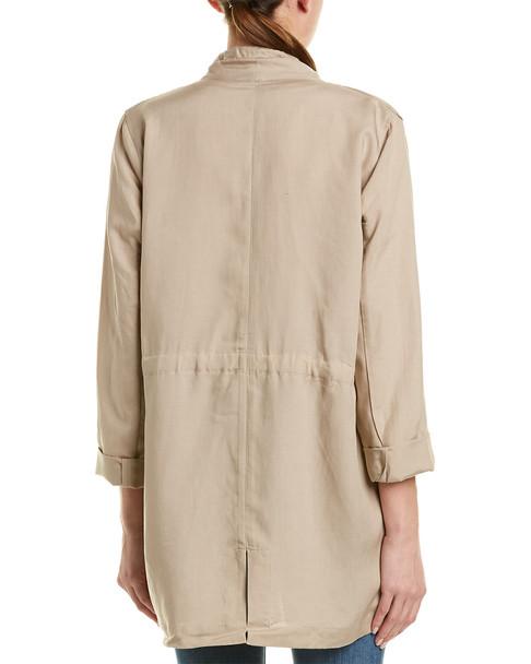 French Connection Ellesmere Linen-Blend Drape Jacket~1411078251